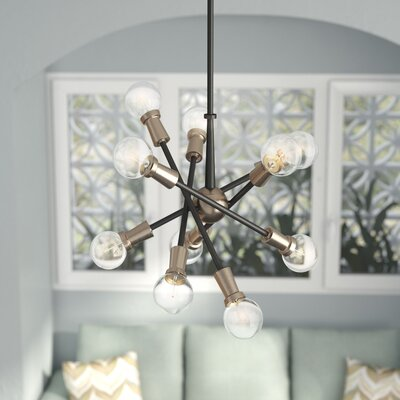 Belk 10-Light Sputnik Chandelier Finish: Black/Brushed Nickel