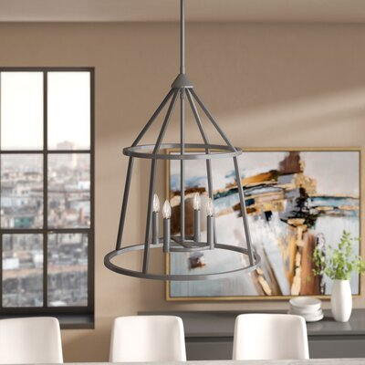 Balbuena 4-Light Candle-Style Chandelier Finish: Graphite Bronze, Size: 23.5 H x 20 W x 20 D