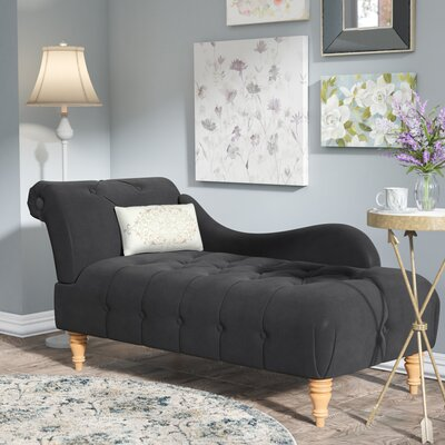 Orlowski Chaise Lounge Upholstery: Dark Charcoal