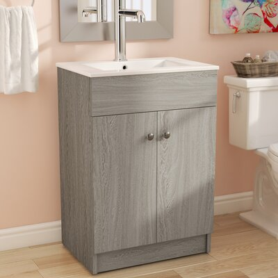 Usry 24 Single Bathroom Vanity Set Base Finish: Whitewash