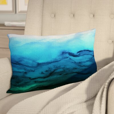 Dominique Winter Waves Lumbar Pillow Color: Blue/Green