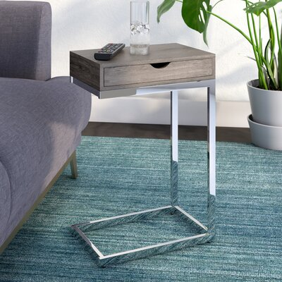 Lexington End Table With Storage Color: Dark Taupe