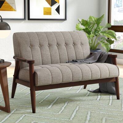 Madeline Settee Upholstery: Khaki