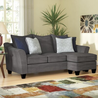 Teri Reversible Sectional Upholstery: Albany Pewter