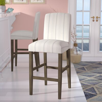 Lake Kathryn Classic High Back 30.5 Bar Stool Upholstery: Dove Gray, Color: Gray