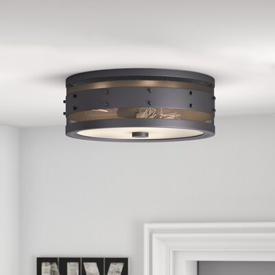 Denver 3-Light Flush Mount Finish: Oil Rubbed Bronze