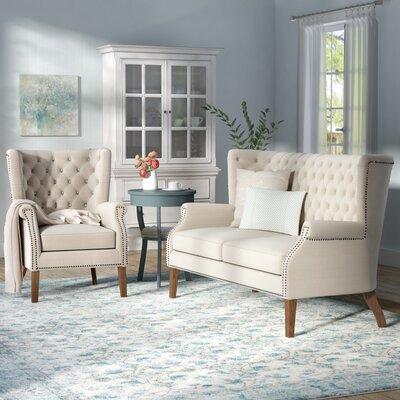 Adger 2 Piece Living Room Set Upholstery: Beige