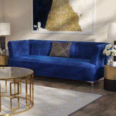 Danette Elegant Classic Chesterfield Sofa Upholstery: Blue