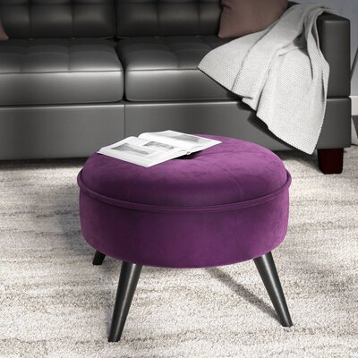 Beemer Ottoman Color: Purple