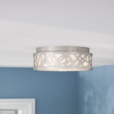 Guynn 1-Light LED Flush Mount Finish: Brushed Nickel