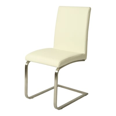 Jensen Parsons Chair (Set of 2) Upholstery: PU Ivory