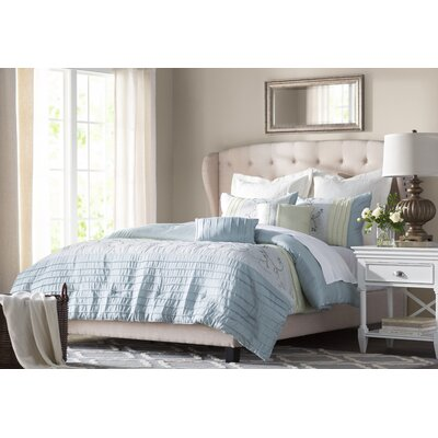 Nielsen Upholstered Panel Bed Size: Queen, Color: Beige