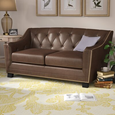 Tux Loveseat Upholstery: Java Brown