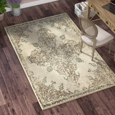 Forcalquier Rectangle Cream Area Rug Rug Size: Rectangle 4 x 6