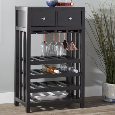 Humphries Tower 20 Bottle Floor Wine Cabinet Color: Black