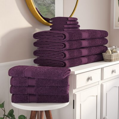 Patric 12 Piece Towel Set Color: Eggplant
