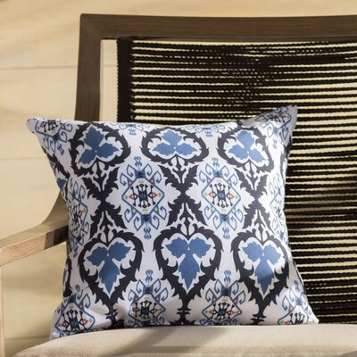 Oliver Bombay Geometric Outdoor Throw Pillow Size: 18 H x 18 W, Color: Navy Blue