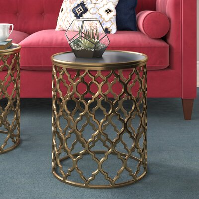 Daniella End Table Color: Tan