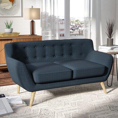 Meggie Loveseat Upholstery: Azure