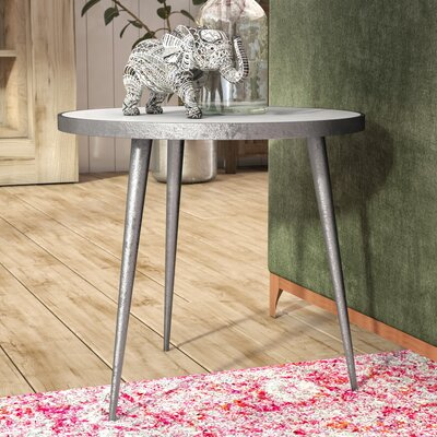 Dilip Marble End Table Color: Silver