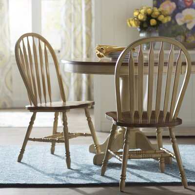 Coldspring Arrow Back Solid Wood Dining Chair (Set of 2) Color: Gray