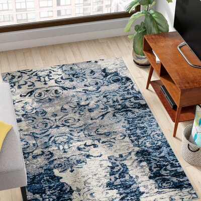 Cindi Blue Area Rug Rug Size: 44 x 64