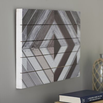 Wood Diamond Dark Graphic Art Size: 16