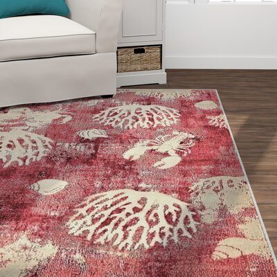 Dickenson Pink Area Rug Rug Size: Rectangle 8 x 10