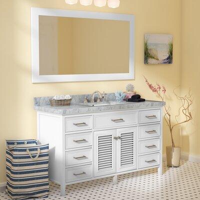Hamil 61 Single Bathroom Vanity Set with Mirror Base Finish: White