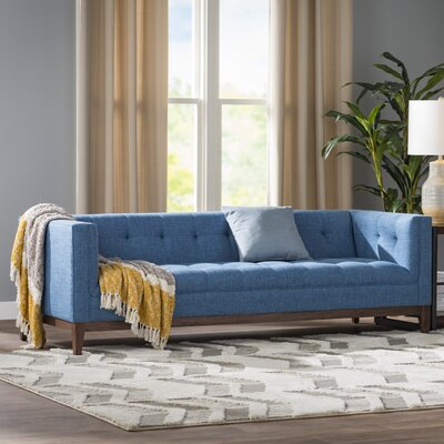 Hedgesville Chesterfield Sofa Upholstery: Blue