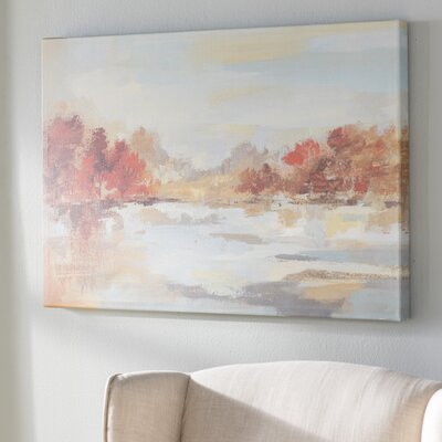 'Late Fall Reminiscence' Painting Print on Wrapped Canvas Size: 24