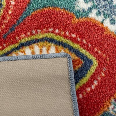 Swansville Green/Orange Area Rug Rug Size: Rectangle 6 x 9