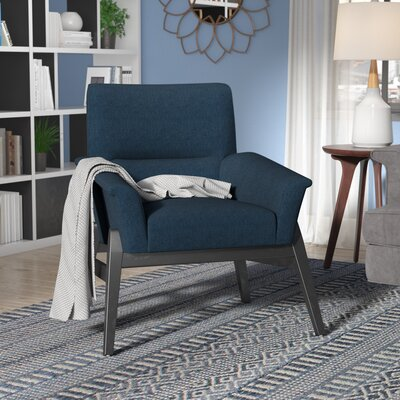 Kramer Fabric Armchair Upholstery: Navy Blue