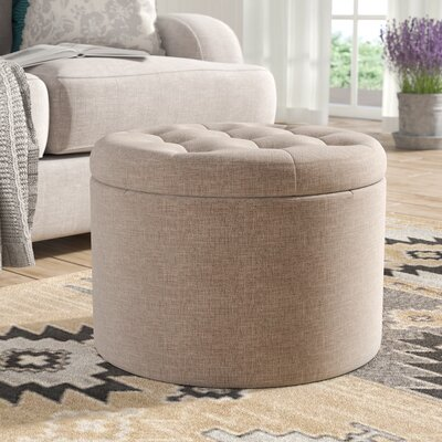 Stansell Round Shoe Ottoman Upholstery: Brown