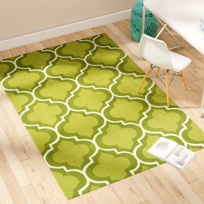 Mitchel Lime Area Rug Rug Size: Rectangle 5 x 76
