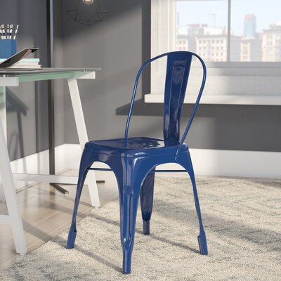 Louisa Dining Chair Color: Dark Navy