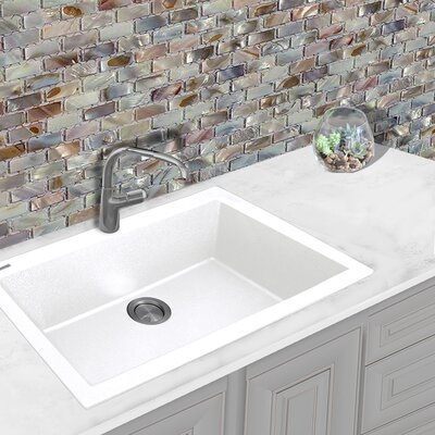 Plymouth 33 x 22 Drop-In Kitchen Sink Finish: White