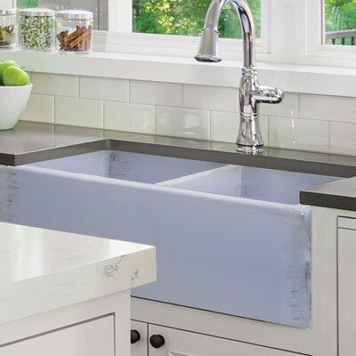 Vineyard 33 x 18 Double Basin Farmhouse Kitchen Sink Finish: Shabby Sugar