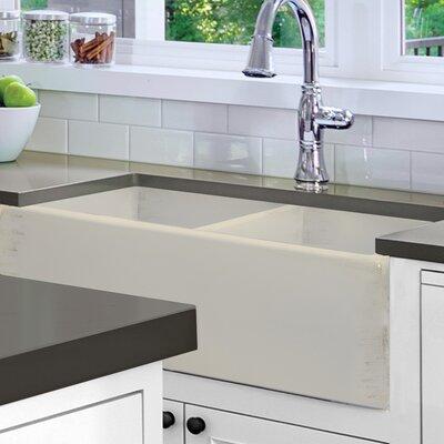 Vineyard 33 x 18 Double Basin Farmhouse Kitchen Sink Finish: Shabby Straw