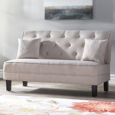 Hurst Tufted Loveseat Upholstery: Beige