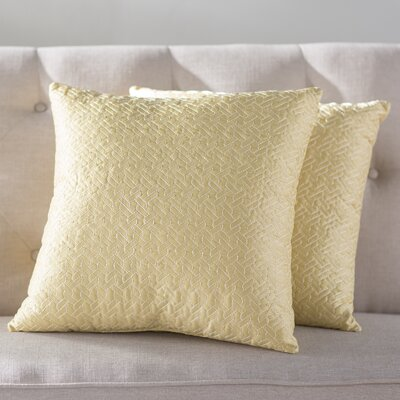 Ibarra Links Quilted Throw Pillow Color: Popcorn/Yellow