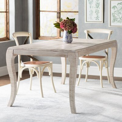 Tampa Dining Table Size: 72 W, Finish: Antique White