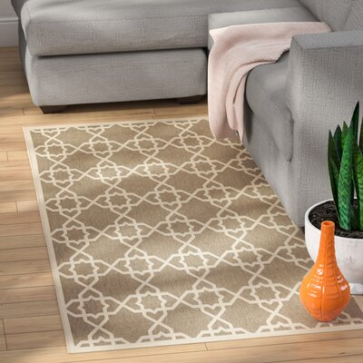 Jefferson Place Brown/Tan ndoor/Outdoor Area Rug Rug Size: Rectangle 27 x 5