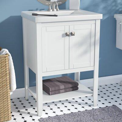 Chesterman 24 Single Bathroom Vanity Set Base Finish: White