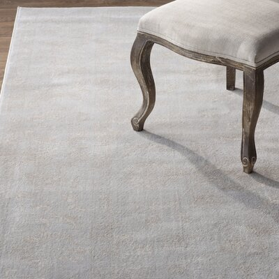 Akron Creek Light Gray/Cream Area Rug Rug Size: Rectangle 8' x 10'