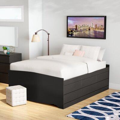 Norristown Storage Platform Bed Size: Queen, Color: Black