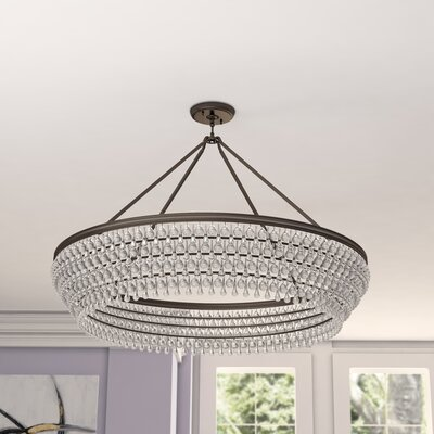 Devanna 8-Light Bowl Crystal Chandelier Finish: Vibrant Bronze