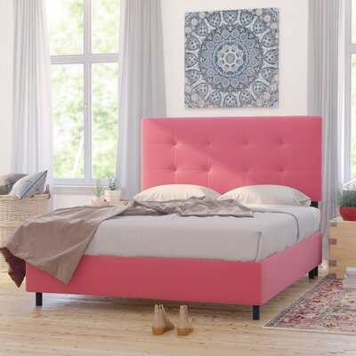 Montreal Upholstered Panel Bed Size: Queen