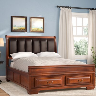 Edwardsville Upholstered Storage Platform Bed Size: Full, Color: Cherry
