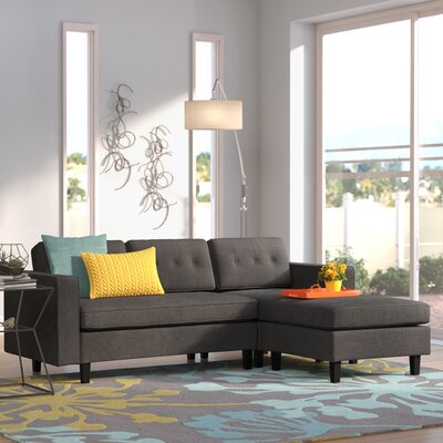 Bay Terrace Sectional Upholstery: Dark Gray